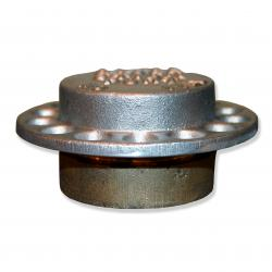 2 Inch Gauge Stick Port Cap & Adapter- Brass Body Aluminum Cap