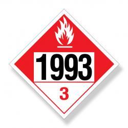 Decal  Dot Na1993 Combustible