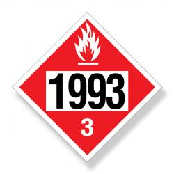 Decal  Dot Un/Na 1993 Flammable