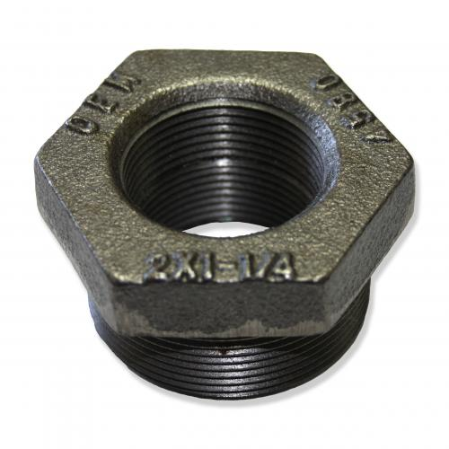 2 Inch X 1-1/4 Inch X 1-1/4 Inch Double Tapped Bushing Evr Approved