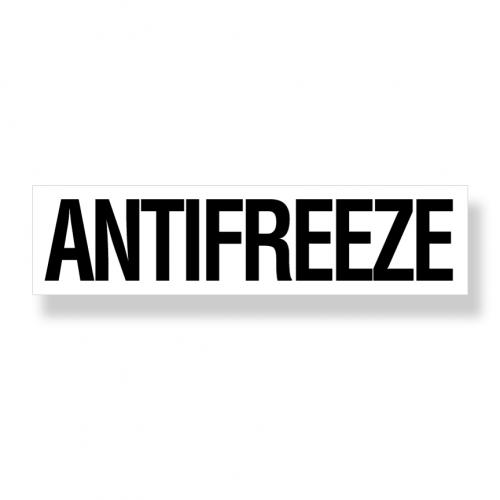 Decal   Antifreeze  3 Inch  x12 Inch