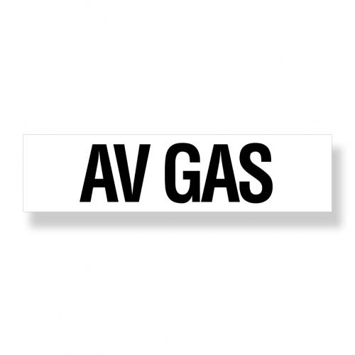 Decal  Avgas 3 Inch X 12 Inch