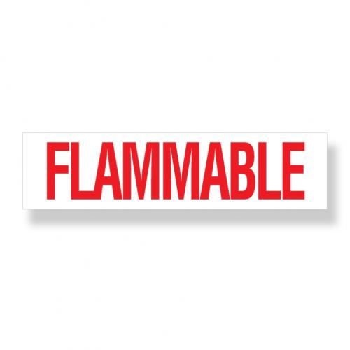 Decal  Flammable 3 Inch X 12 Inch