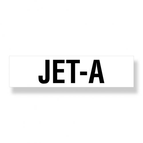 Decal   Jet A  3 Inch  x 12 Inch