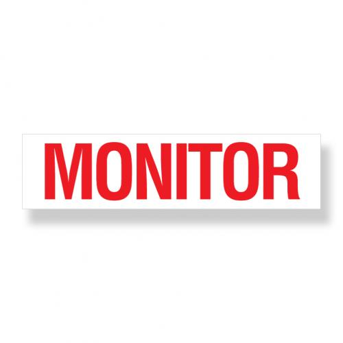Decal   Monitor  3 Inch  x 12