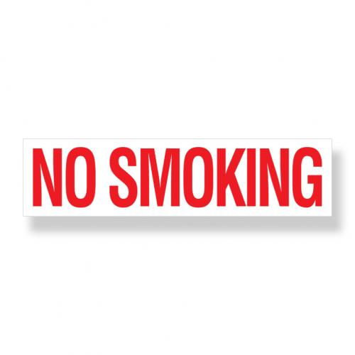 Decal   No Smoking  3 Inch  x 12