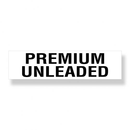 Decal   Premium Unleaded  3 Inch  x 12 Inch