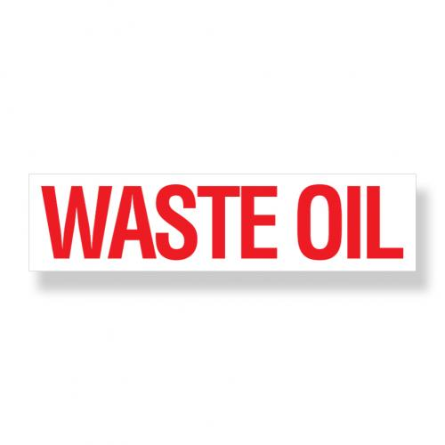 Decal  Waste Oil 3 Inch X 12 Inch