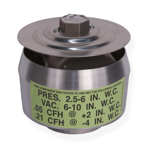 2 Inch Thread-On Pressure/Vacuum Vent, 3 Inch WCP-8 inch WCV