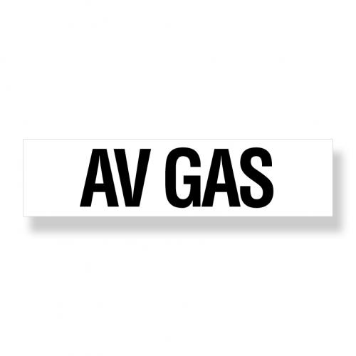 Decal   Avgas  6 Inch  x 24 Inch