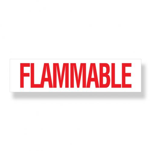 Decal   Flammable  6 Inch  x 24 Inch