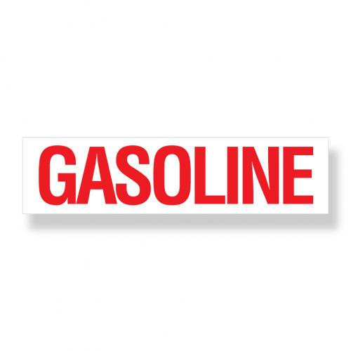Decal   Gasoline  6 Inch  x 24 Inch
