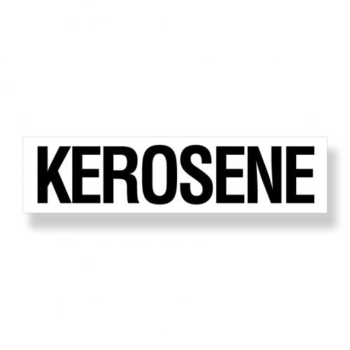 Decal   Kerosene  6 Inch  x 24 Inch