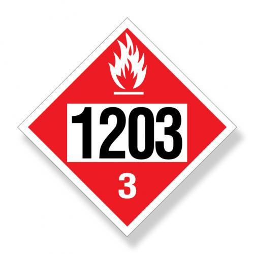 Decal  Dot Un1203 Flammable