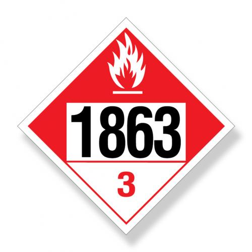 Decal   Dot UN1863 Combustible