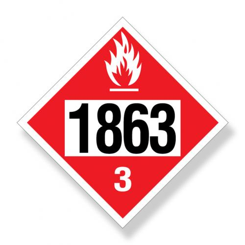 Decal   Dot UN1863 Flammable