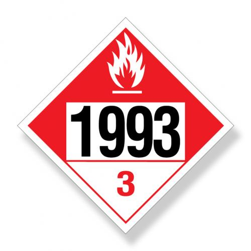 Decal  Dot Na1993 Combustible