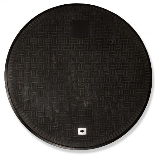 40 Inch Diameter Black Flat Sealed Cover and Composite Frame