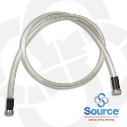 24 Inch Air Test Jumper Hose Kit With (2) Shrader Valve Fittings