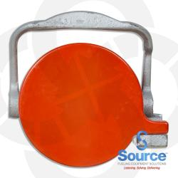 3 Inch Orange Flat Top Cap Vapor Recovery Low Profile