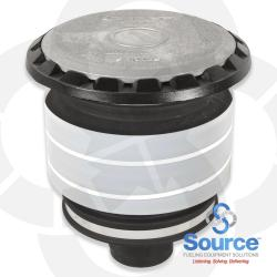 5 Gallon Vapor/Spill Containment Manhole Duratuff Ii Base With Aluminum Cover Evr With Drain Valve (E85 Approved)