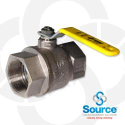 2 Inch Full Port Brass Ball Valve With Stainless Steel Trim