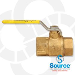 1 Inch Full Port Brass Ball Valve Double Viton O-Rings T/S-100Ne