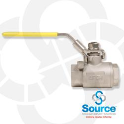 3/4 Inch Full Port Stainless Steel Ball Valve & Stem