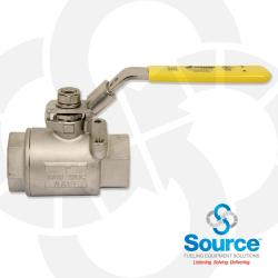 1-1/2 Inch Full Port Stainless Steel Ball Valve & Stem