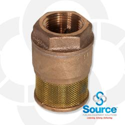 1 Inch Single Poppet Brass Foot Valve