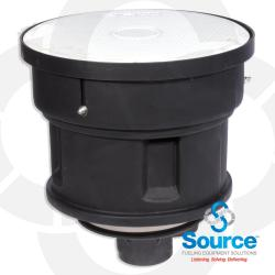 5 Gallon Below Grade Spill Containment Manhole With Duratuff Ii Base - Composite Cover - Thread On