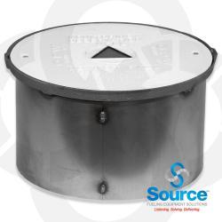 18 Inch Bolt Down Watertight Monitoring Well Manhole 11-1/4 Inch Skirt