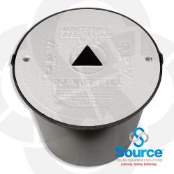 18 Inch Bolt Down Watertight Monitoring Well Manhole 19-1/4 Inch Skirt