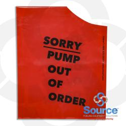 11-0499 - Red Nozzle Hood Pump Out Of Order (6 Pack)