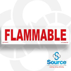 12 Inch X 3 Inch Decal - Flammable
