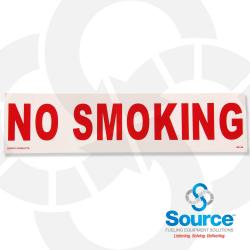12 Inch X 3 Inch Decal - No Smoking