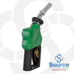 14C Series Green B20 Diesel Capture Technology Nozzle With 3/4 Inch Inlet, 2-Piece Hand Insulator, Aluminum Spout,  And Hold-Open Rack. UL/ULC Listed.