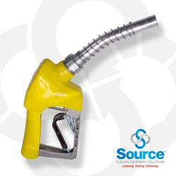 Yellow Xs Pressure Activated Light Duty Diesel Automatic Nozzle 3/4 Inch Inlet 3-Notch Hold Open Clip. Ul Listed.