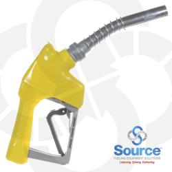 Yellow XS Pressure Activated Light Duty Diesel Automatic Nozzle, 3/4 Inch Inlet, Splash Guard, Without Hold Open Clip. UL Listed.