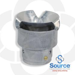1-1/2 Inch Open Vent Upward Aluminum