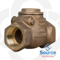 1-1/2 Inch Swing Check Valve - Threaded Brass