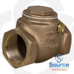 2 Inch Swing Check Valve - Threaded Brass