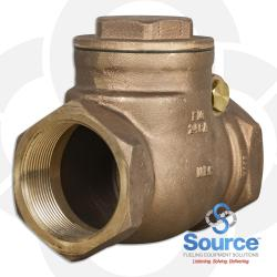 3 Inch Swing Check Valve - Threaded Brass