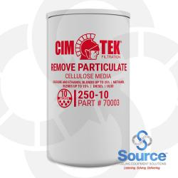 10 Micron Cellulose Particulate Removal Spin-On Petroleum Dispenser Filter, 1 Inch-12 Thread (70003)