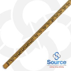 14 Foot 2-Section Folding Lock Joint Tank Gauge Stick, Dual Inch/Foot Scale