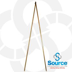 16 Foot 2-Section Folding Lock Joint Tank Gauge Stick, Dual Inch/Foot Scale