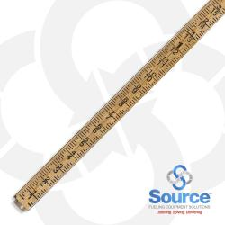 16 Foot 2-Piece Sectional Tank Gauge Stick With Push Button Release, Dual Inch/Foot Scale