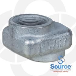 1-1/2 Inch Female NPT x 1 Inch Shorty Offset Adapter