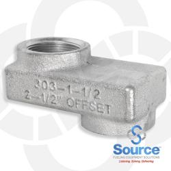 1-1/2 Inch X 2-1/2 Inch NPT Offset Adapter