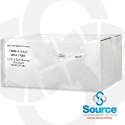 3-1/8 X 220 Foot Thermal Printer Paper - 7/16 Inch Core (Case Of 50)